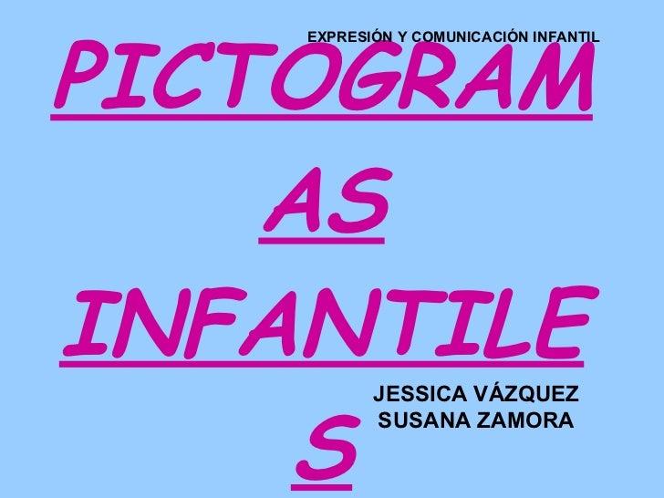 PICTOGRAMAS INFANTILES EXPRESIÓN Y COMUNICACIÓN INFANTIL JESSICA VÁZQUEZ SUSANA ZAMORA