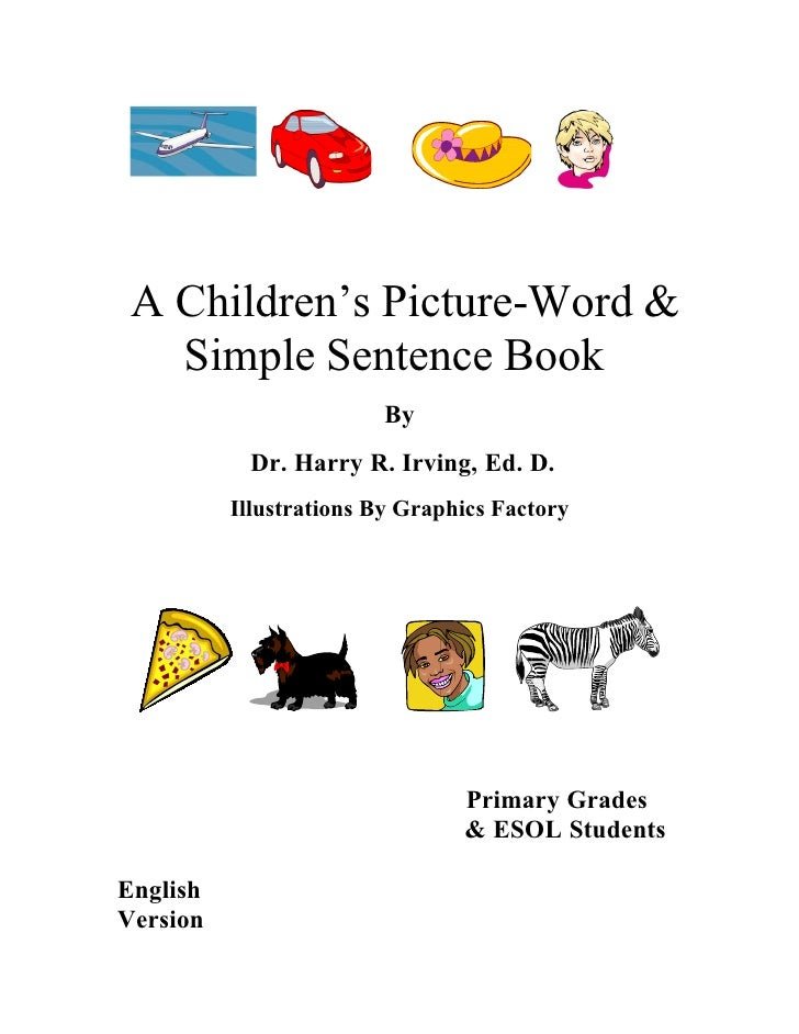 Picture  Word Book Cover English 7