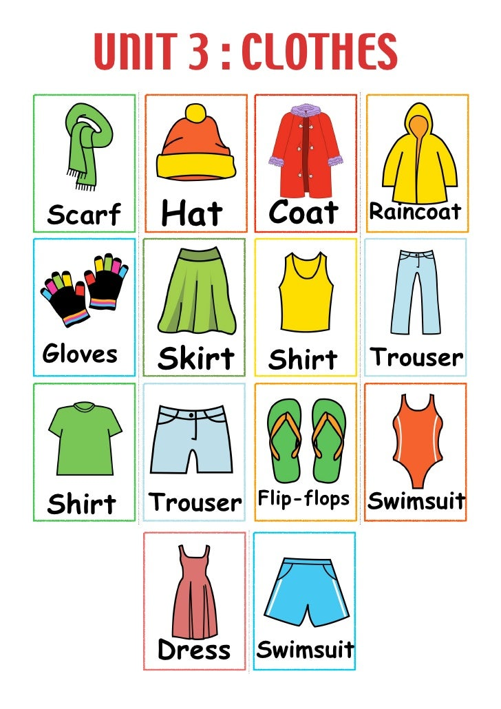 Picture dictation clothes