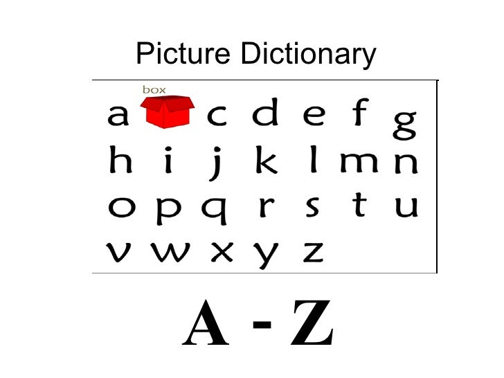 Picture Dictionary A - Z