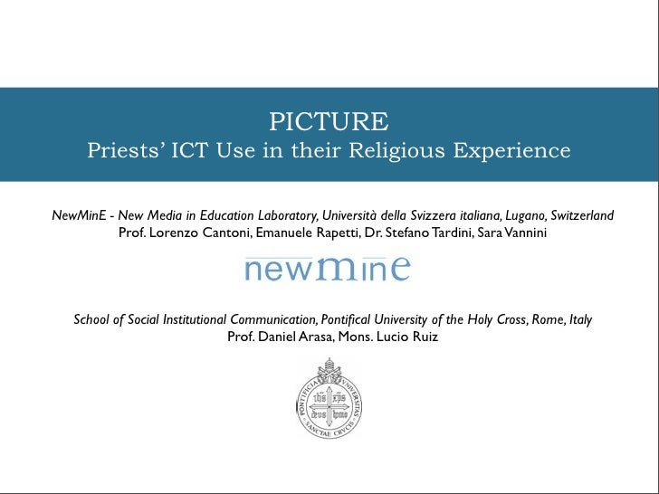 PICTURE - Priests' ICT Use in their Religious Experience
