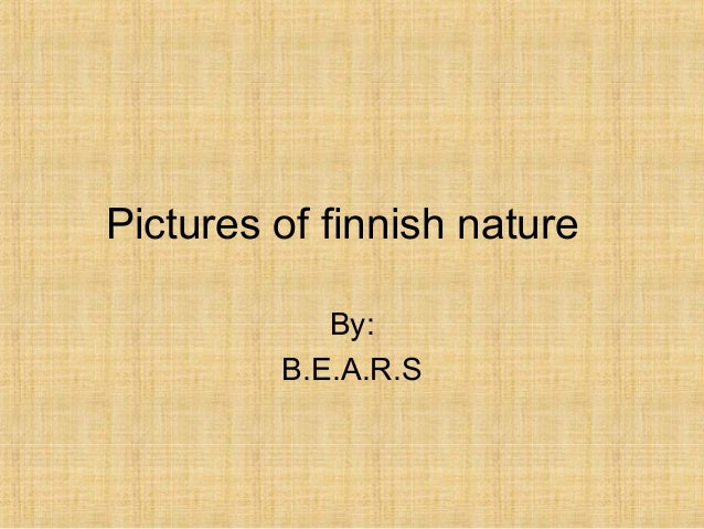 Pictures of finnish nature