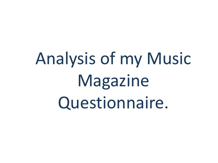 Evaluation of my Music Magazine