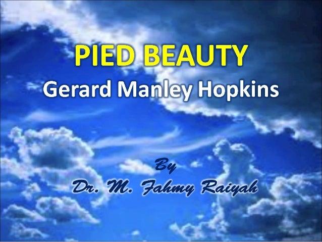"Gerard Manley Hopkins, ""Pied Beauty"""
