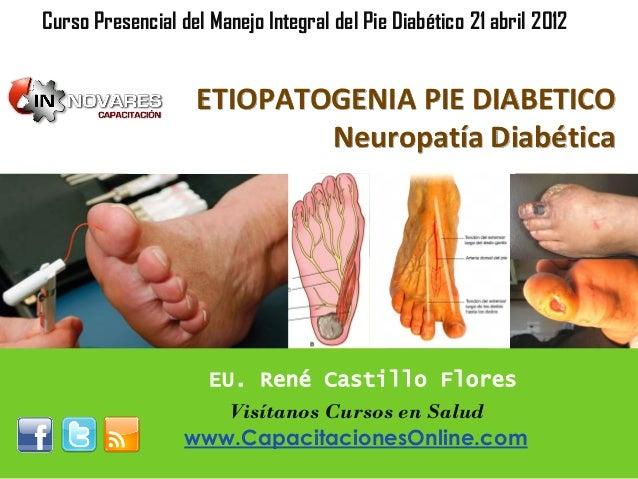 ETIOPATOGENIA PIE DIABETICO Neuropatía Diabética Curso Presencial del Manejo Integral del Pie Diabético 21 abril 2012 EU. ...