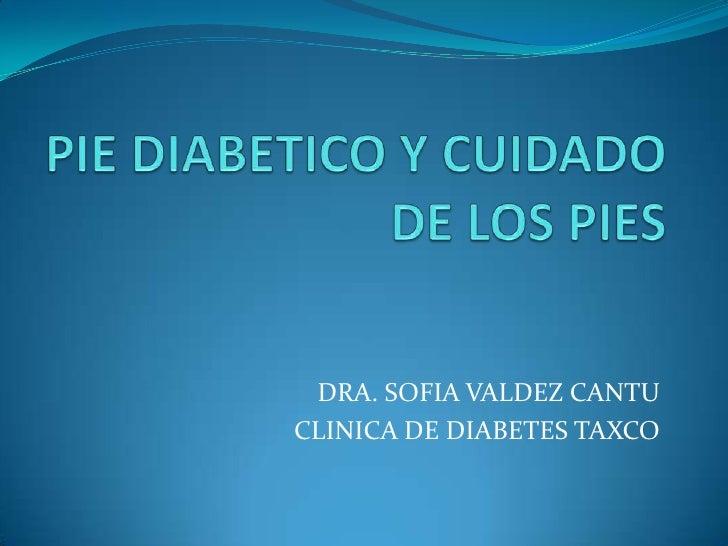 PIE DIABETICO Y CUIDADO DE LOS PIES<br />DRA. SOFIA VALDEZ CANTU<br />CLINICA DE DIABETES TAXCO<br />