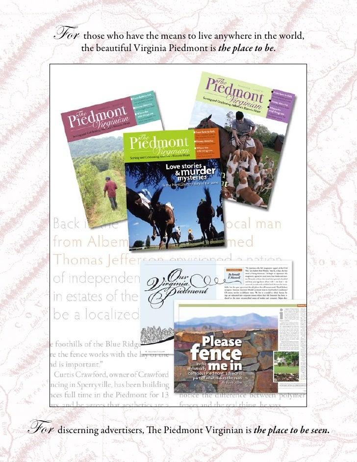 Piedmont Virginian Media Kit 09