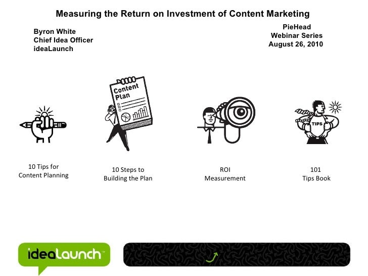 10 Tips for Content Planning 10 Steps to Building the Plan ROI Measurement 101  Tips Book Measuring the Return on Investme...
