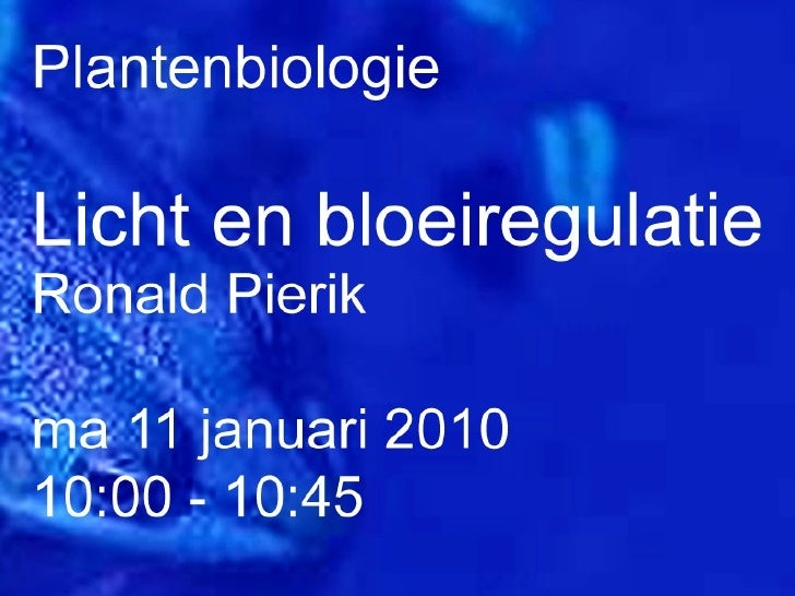 Plantenbiologie college 9 deel 2