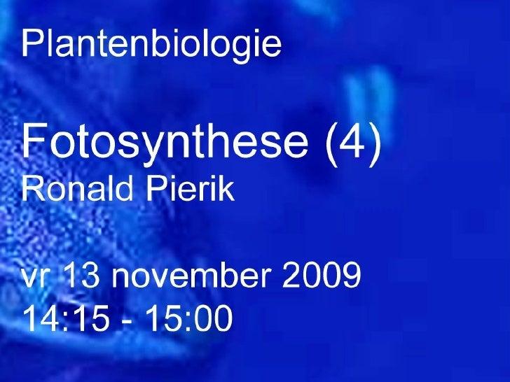 Plantenbiologie college 2 deel 2