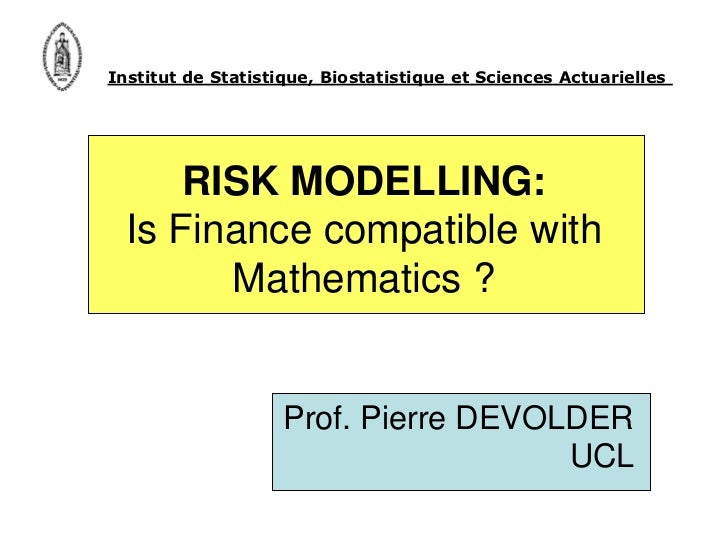 ResearchTalks Vol. 3 - Risk modelling: Is finance compatible with mathematic…