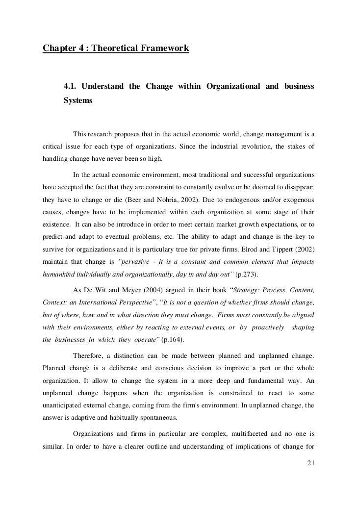 thesis organisational change