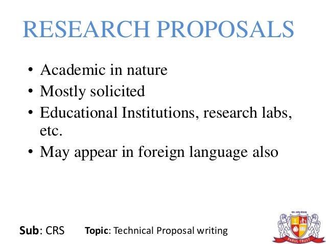 Writing a Successful Proposal