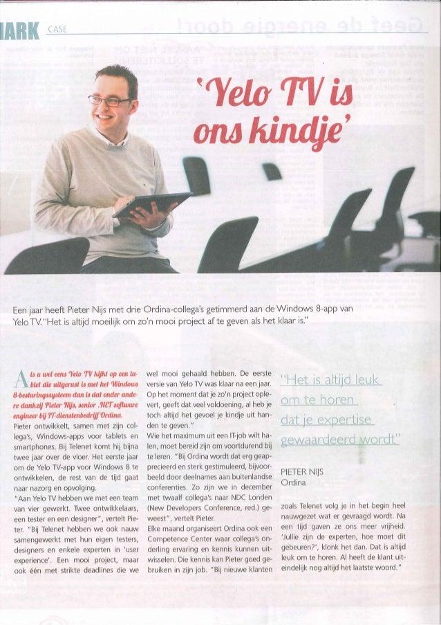 Artikel in Mark - by Pieter Nijs - Yelo ons Kindje