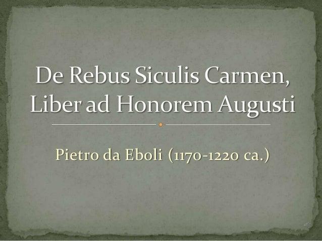 Pietro da Eboli (1170-1220 ca.)