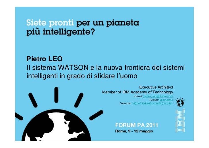 Pietro leo   - IBM Watson