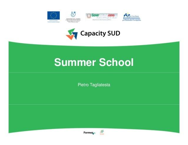 Summer School Pietro Tagliatesta