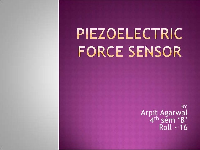 Piezoelectric force sensor