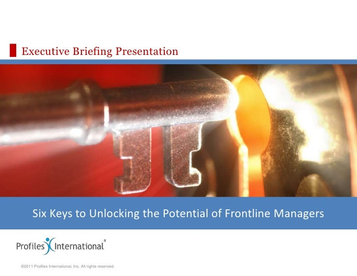 PII Unlocking the Potential of Frontline Managers