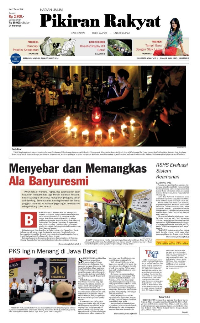 Pikiran Rakyat 30 Maret 2014