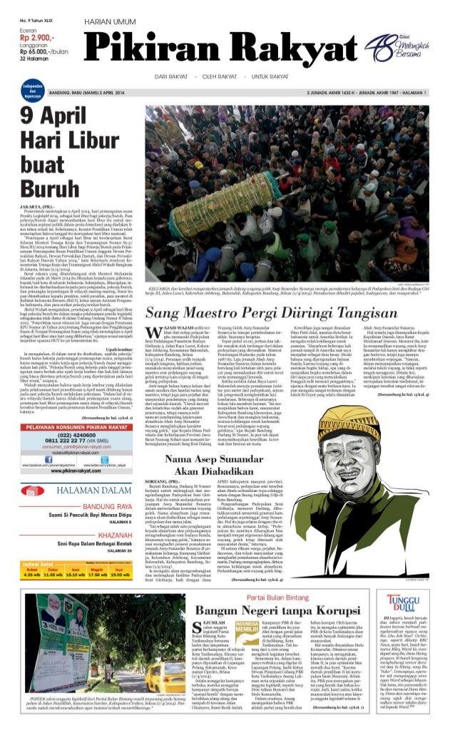 Pikiran Rakyat 2 April 2014