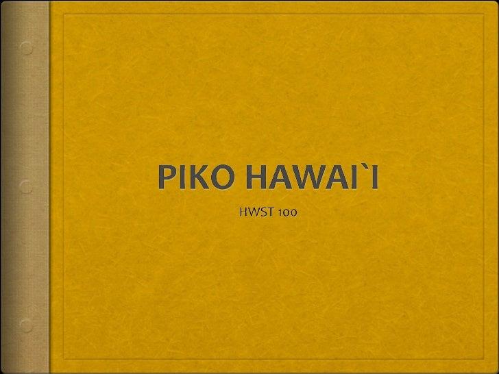 Piko hawaii