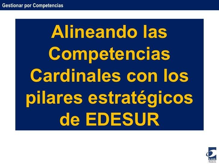 Alineando las Competencias Cardinales con los pilares estratégicos de EDESUR