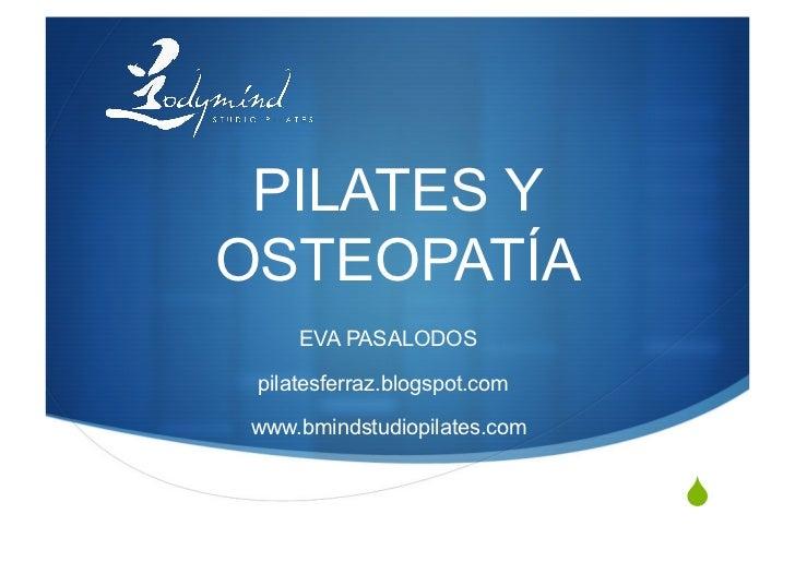 Pilates y osteopatía congreso león