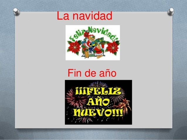 La navidad  Fin de año