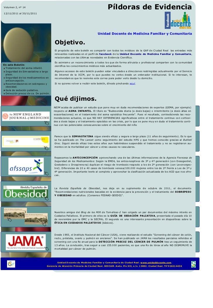 Pildoras Evidencia 14 UDFI MFyC CR