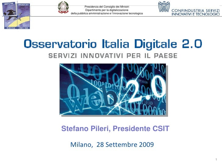 Presidenza del Consiglio dei Ministri               Dipartimento per la digitalizzazione   della pubblica amministrazione ...