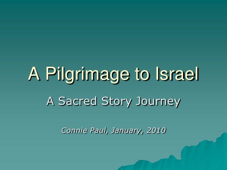 Pilgrimagetoisrael