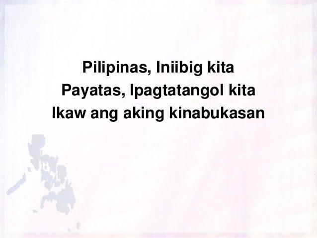 Pilipinas, Iniibig kita Payatas, Ipagtatangol kita Ikaw ang aking kinabukasan