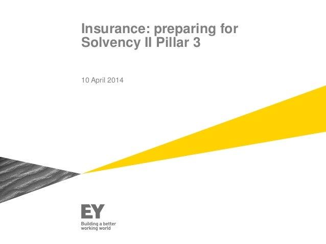 Insurance: preparing for Solvency II Pillar 3 10 April 2014