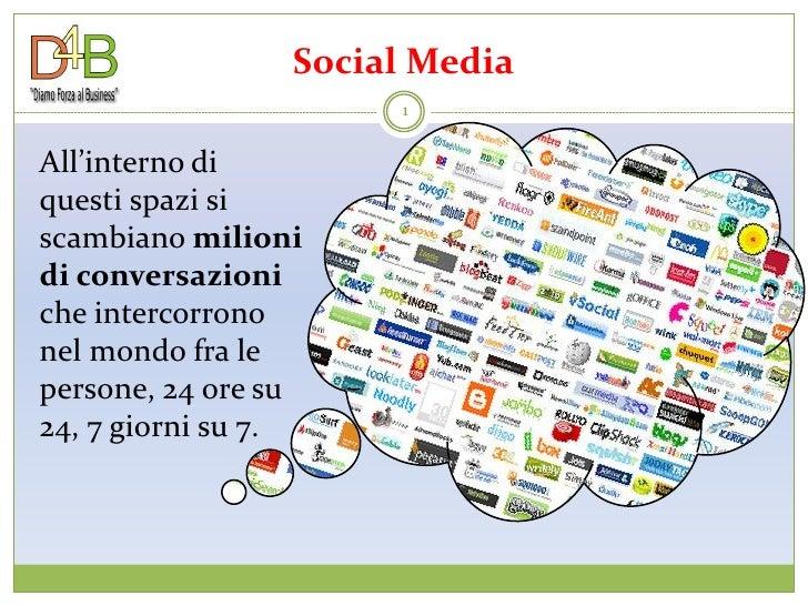 Social Media                       1   All'interno di questi spazi si scambiano milioni di conversazioni che intercorrono ...
