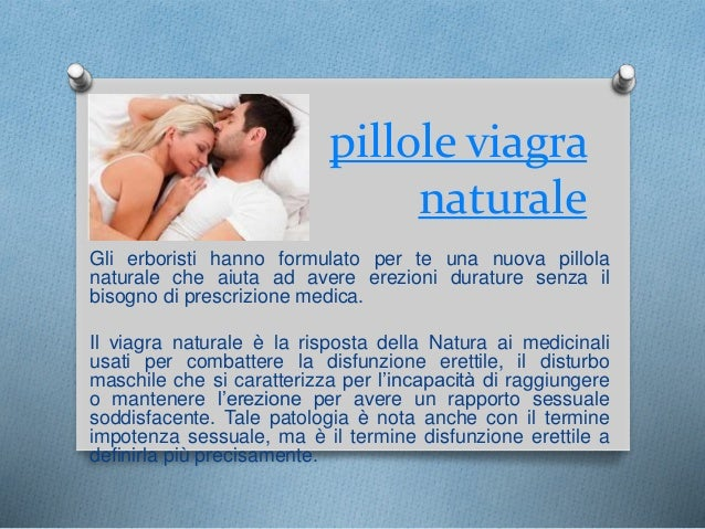 Viagra naturale