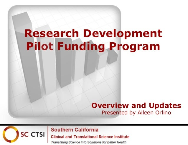 Research Development Pilot Funding Program  Overview and Updates Presented by Aileen Orlino