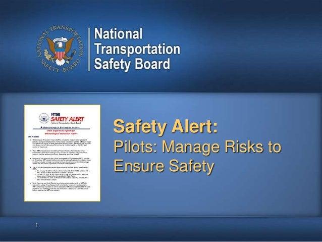 Safety Alert: Pilots... Manage Risks to Ensure Safety
