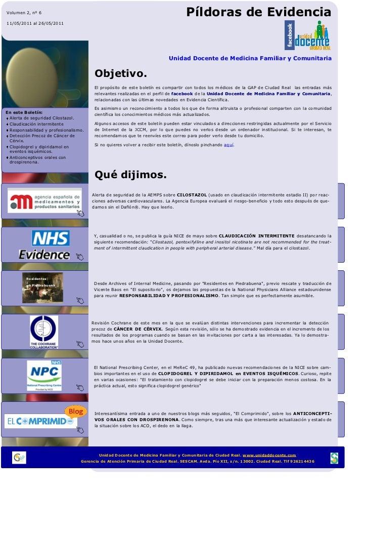 Pils 6 (Píldoras de Evidencia UDFI CR MFyC)