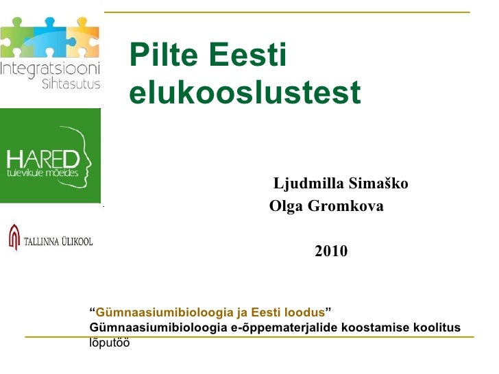 Pilte eesti elukooslustest