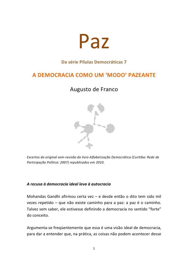Pilulas democraticas 7  Paz