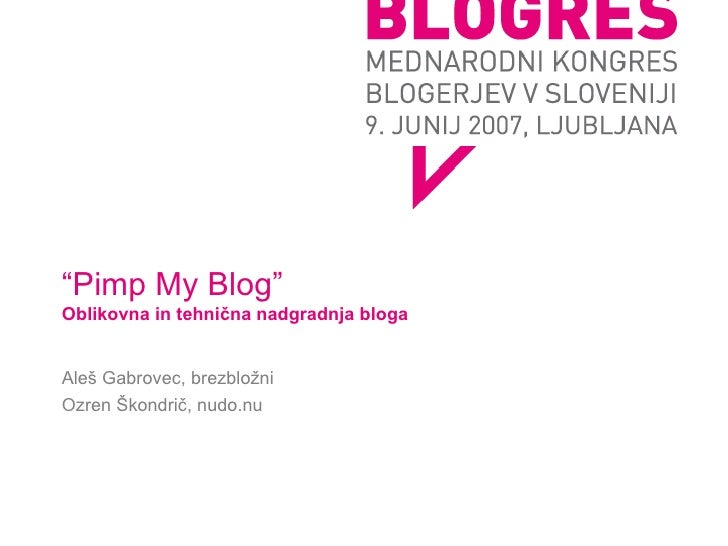 pimp my blog