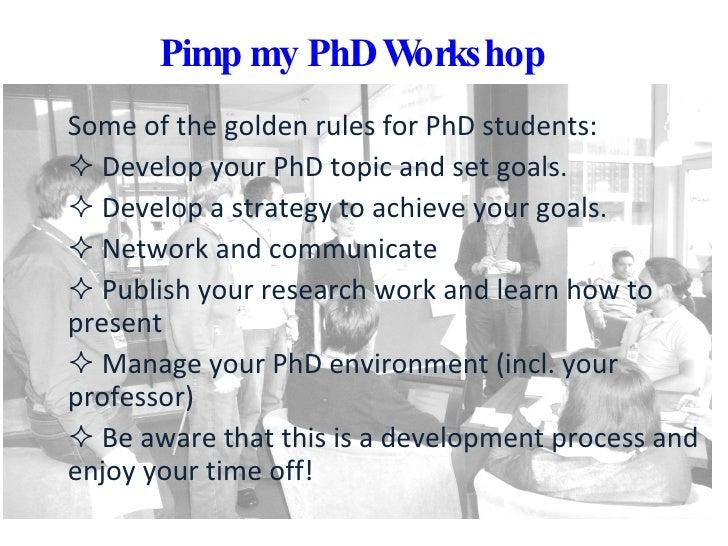 Pimp my PhD