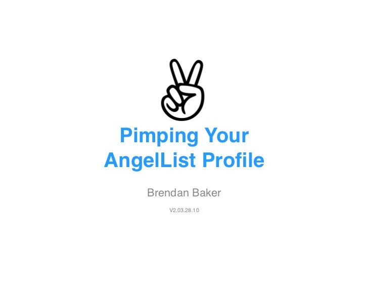 Pimp Your AngelList Profile V2