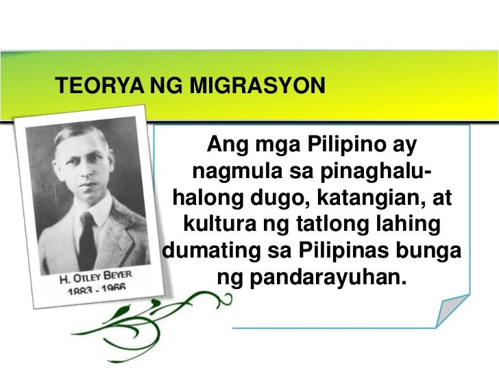 migration theory henry otley beyer Henry otley beyer (july 13, 1883 – december 31, 1966) was an american anthropologist , who spent most of his adult life in the philippines teaching philippine.