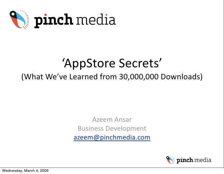 'AppStoreSecrets'          (WhatWe'veLearnedfrom30,000,000Downloads)                                       AzeemAn...