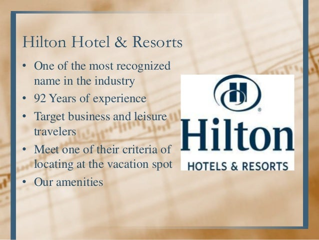 Business Plan For Hotel