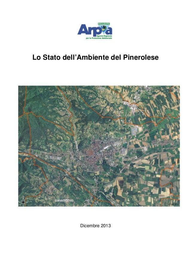 Lo Stato dell'Ambiente del Pinerolese  Dicembre 2013