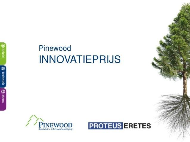 PinewoodINNOVATIEPRIJS