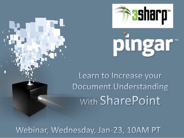 Pingar 3Sharp Webinar Jan 2013